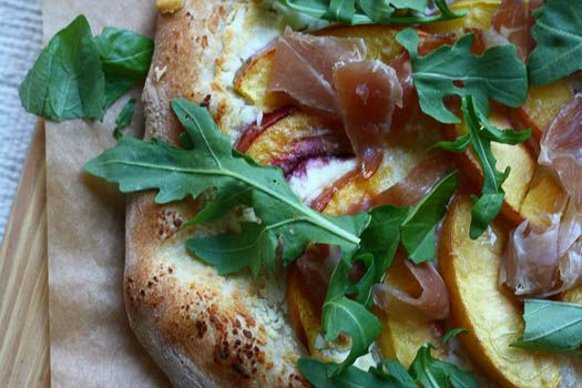 Prosciutto and nectarine pizza. At this point, I should probably just make a pizza board...