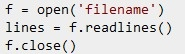 Read a file line-by-line into a list/array.
