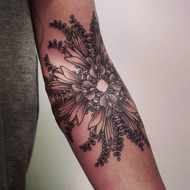 Flower Tattoo On The Inner Forearm Tattoo Artist Doy: Inner Elbow Tattoo