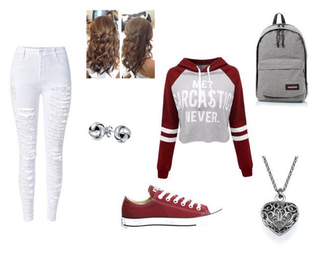 """""""Untitled #19"""" by xcon27x on Polyvore featuring WithChic, Converse, Eastpak and Bling Jewelry"""