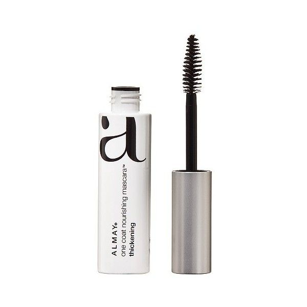 Almay One Coat Thickening Mascara ($4.99) found on Polyvore featuring beauty products, makeup, eye makeup, mascara, blackest black, thickening mascara, almay, almay mascara, conditioning mascara and almay eye makeup