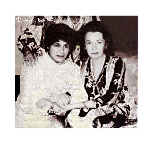 Former Empress Fawzia Of Iran & her daughter  Princess Shahnaz Pahlavi In 1970's
