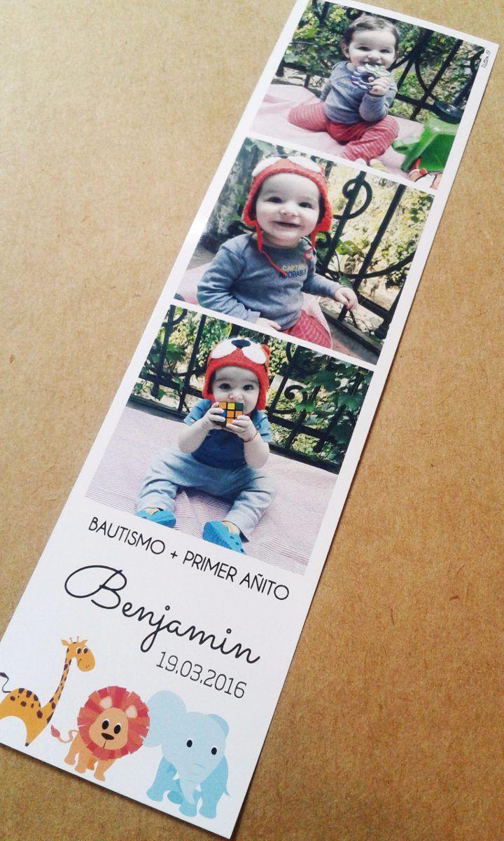 Idea para invitación: fotos con carteles con la info del cumple