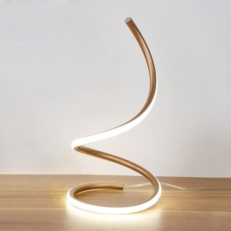 Swirling Line Minimalist LED Table Lamp | Minimalist decor