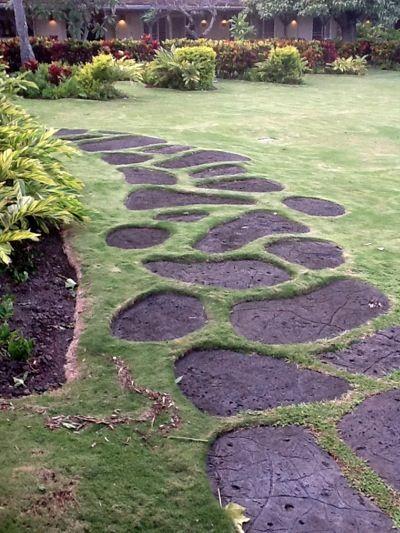 Garden Path In Hawaii