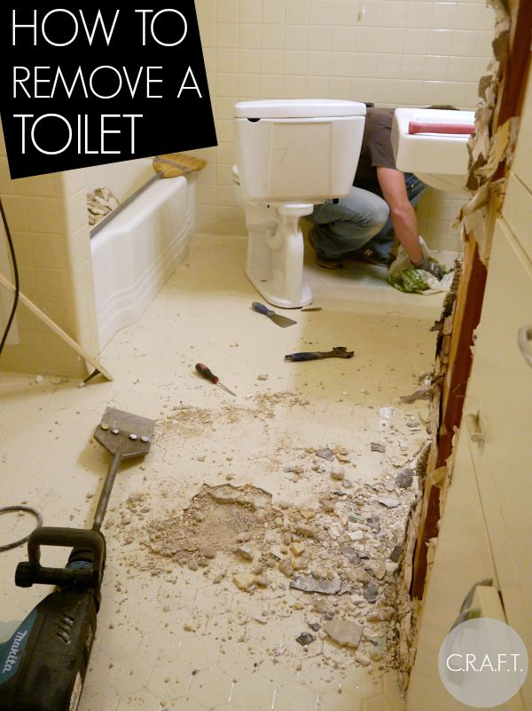 How to remove a toilet... it's easy! (But, the toilet is heavy!)