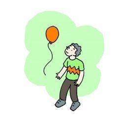 Corsa con i palloncini