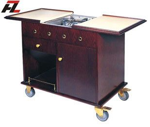 Mobile Kitchen Cart Island with Air Vents-Kitchen Cart