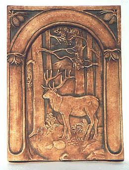Batchelder tile - Elk In Forest