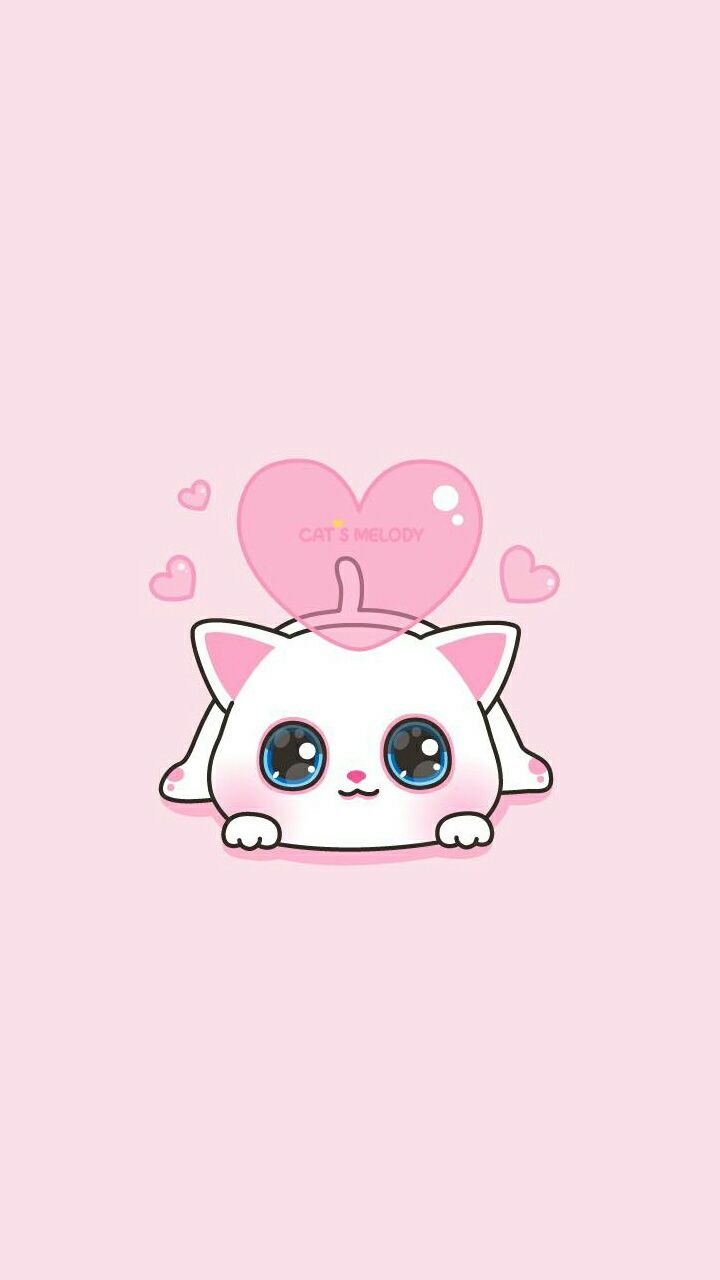 Cats Melody Pink Girly Cute Wallpaper Seni Kucing Kartun