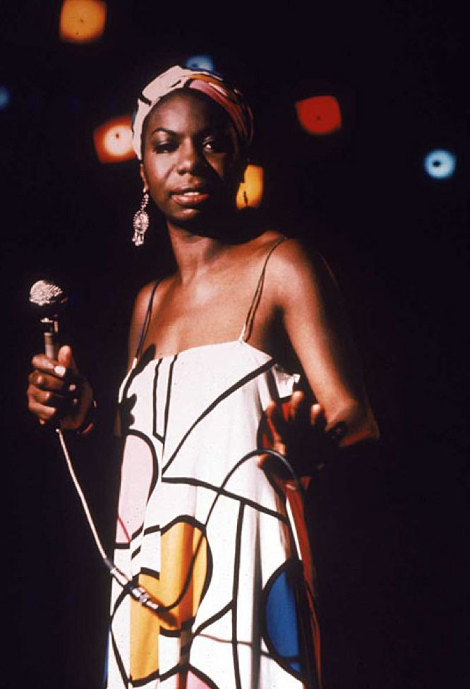 "Nina ""I Ain't Foolin'"" #Simone ... could always glare - it got her in Carnegie hall ... through the FRONT door  #GetYourGlareOn"