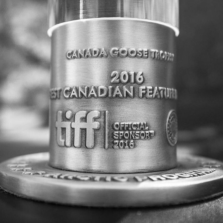 """Congrats to the 2016 Canada Goose award winner for Best Canadian Feature Film: """"Those Who Make Revolution Halfway Only Dig Their Own Graves"""" from Quebec filmmakers Mathieu Denis and Simon Lavoie.  Always an honour to work with Canada Goose to create such a beautiful award. Regram: @canadagoose"""