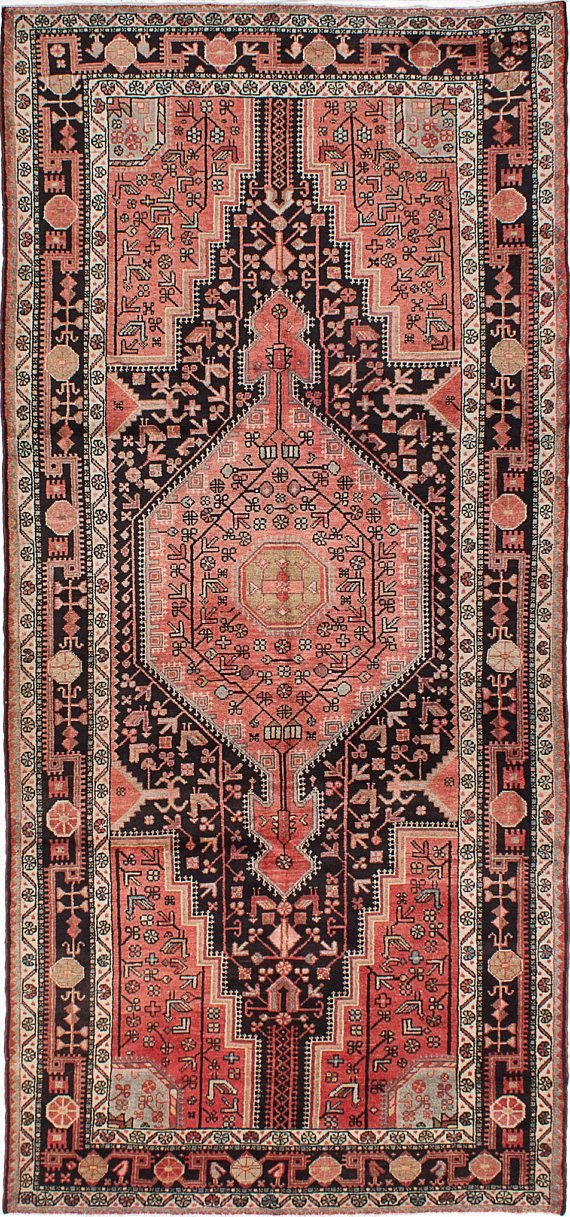 Type of Rug: Vintage Touserkan Persian Rug Country of Origin: Iran Size: 53 x 116 Construction: Handmade/Hand-Knotted Material: 100% Wool ..................................................................................................... FREE SHIPPING AND RETURNS Rugs ship safely and securely from Plattsburgh, New York. Rugs are guaranteed to arrive to you via Fedex. Depending on your location, you can expect to receive your order within 5-10 from the purchase date. Shipping is free ...