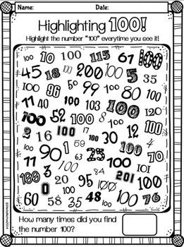 100TH DAY OF SCHOOL CELEBRATION (OVER 70 PAGES OF PRINTABLES AND ACTIVITIES!!} - TeachersPayTeachers.com