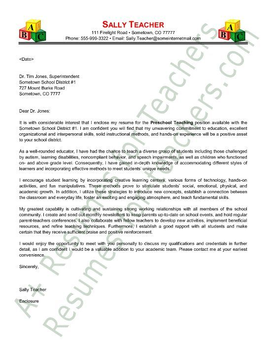 78 best Teacher and Principal Cover Letter Samples images on - letter of interest format