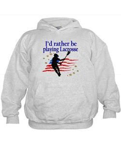 LACROSSE PLAYER Hoodie Calling all Lacrosse players! Awesome Lacrosse Girl designs on Tees and Gifts. http://www.cafepress.com/sportsstar/13899001 #GirlsLacrosse #Lovelacrosse #Chickswithsticks #LacrosseGirl