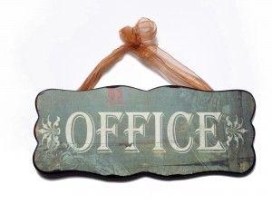 """Tabliczka drewniana """"OFFICE"""""""