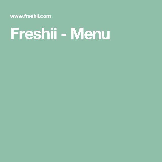 Freshii -   Menuspinach, kale & field greens, goat cheese, mango, almonds, carrots, edamame, balsamic vinaigrette