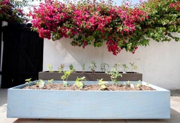 Nice for renters... wooden box mini creative garden decor ideas DIY planters