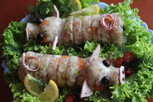 Przepisy Kulinarne: Świnki - zimne nóżki - galareta wieprzowa