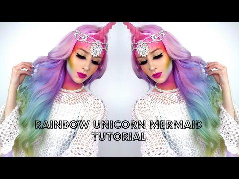 Unicorn Mermaid Mythical Creature Makeup Tutorial - YouTube
