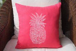 beach decor pink pineapple