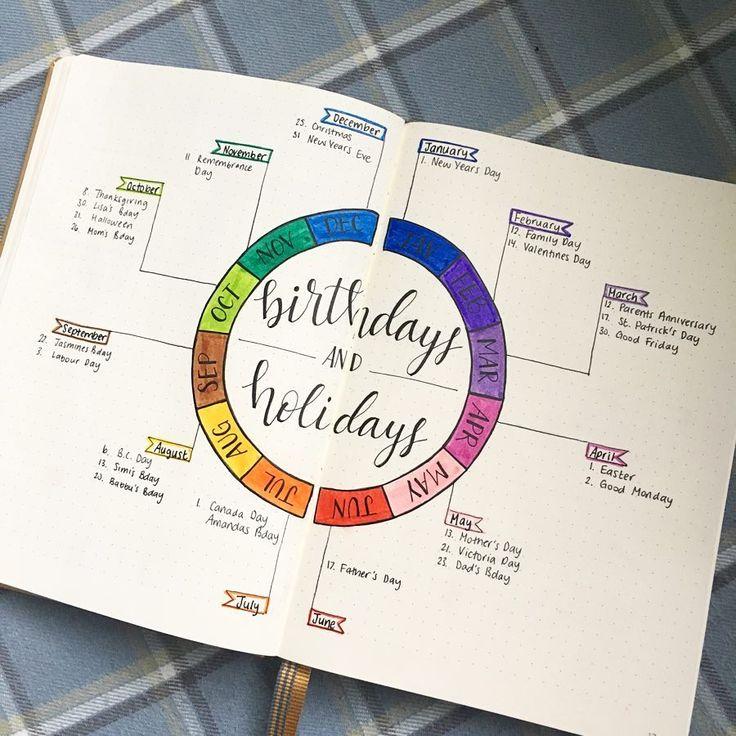 Planen Sie für das neue Jahr in Ihrem Bullet Journal   – Bullet Journal