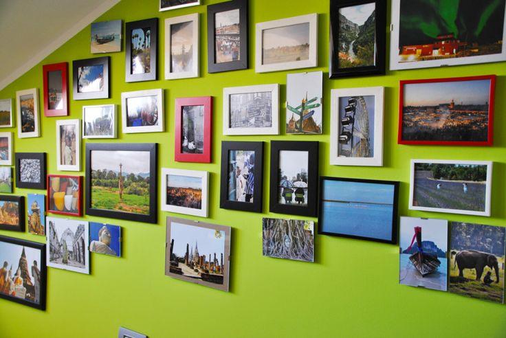 Tutti i miei viaggi su una parete. Presto casa mia verrà invasa #mysweettravelhome #travel #homedecore