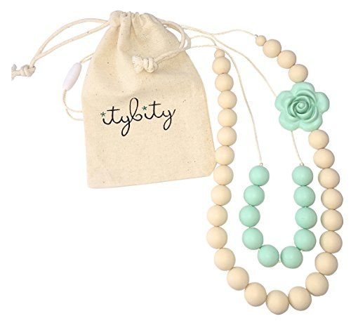 Baby Teething Necklace for Mom, Silicone Teething Beads, ...