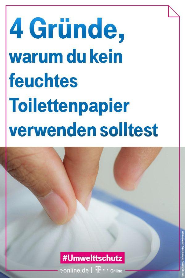 Vier Grunde Feuchtes Toilettenpapier Zu Meiden Toilettenpapier
