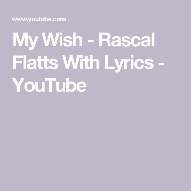 my wish rascal flatts pdf