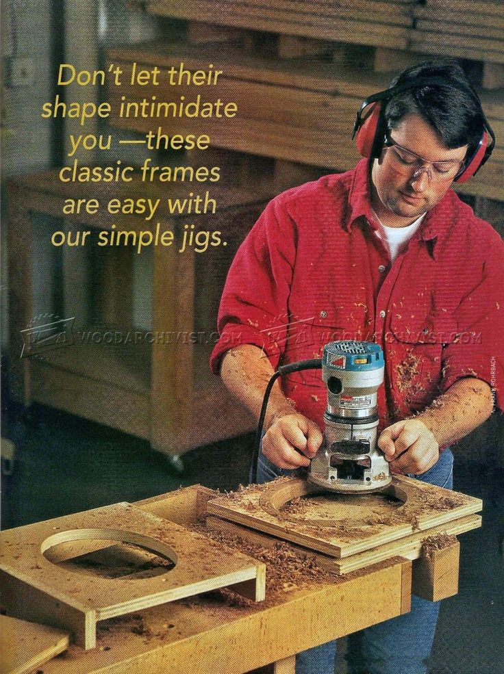 #3233 Making Oval Picture Frame - Woodworking Plans