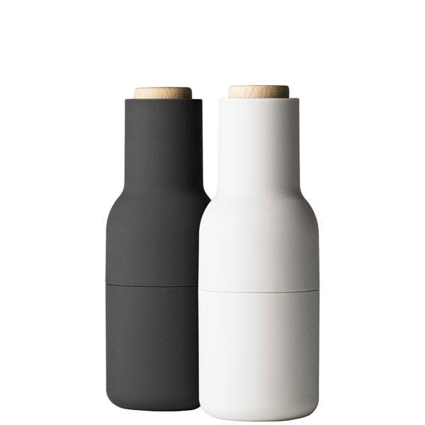 Bottle Grinder small 2-set, grey, by Menu.