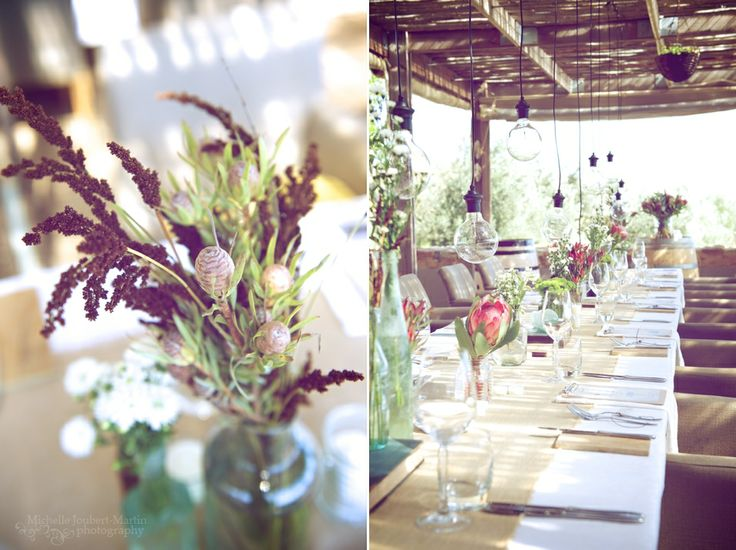 DIY wedding decor at Hidden Valley Wines near Stellenbosch - images by Cape Town photographer, Michelle Joubert-Martin