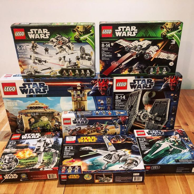 This awesome haul of Star Wars sets are all for sale!  Shipping to US and Canada avaiable - DM me for a quote. Prices below are in both Canadian and USD  7657 AT-ST $100 CAD - $80 USD 9492 TIE Fighter $120 CAD - $100 USD 9496 Desert Skiff $45 CAD - $36 USD 9498 Saesee Tiin's Jedi Starfighter $58 CAD - $48 USD 9516 Jabba's Palace $225 CAD - $185 USD 75004 Z-95 Headhunter $85 CAD - $70 USD 75014 Battle Of Hoth $140 CAD - $115 USD 75050 B-wing $85 CAD - $70 USD  ____________ #starwars…