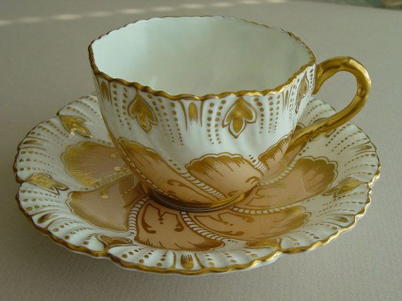 Antique Tea Cup, CoalPort, Tea Cup and Saucer, Coffee Cup, Teacup Mug, Vintage, Bone China, Floral Set, Tea Party