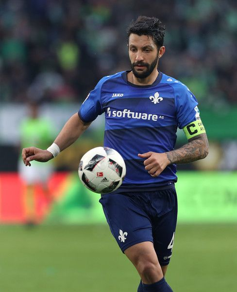 Aytac Sulu of Darmstadt focusses the ball during the Bundesliga match between VfL Wolfsburg and SV Darmstadt 98 at Volkswagen Arena on March 18, 2017 in Wolfsburg, Germany.