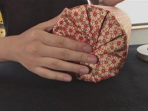 How To Gift Wrap A Circular Object - YouTube