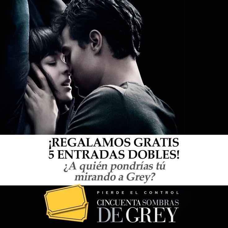 ¡Sorteamos 5 entradas dobles para el estreno de 50 sombras de Grey! Responde en este post a nuestra pregunta ¿a quién pondrías tú mirando a Grey? Contesta en nuestro post ow.ly/I8YuC  ¡Suerte!