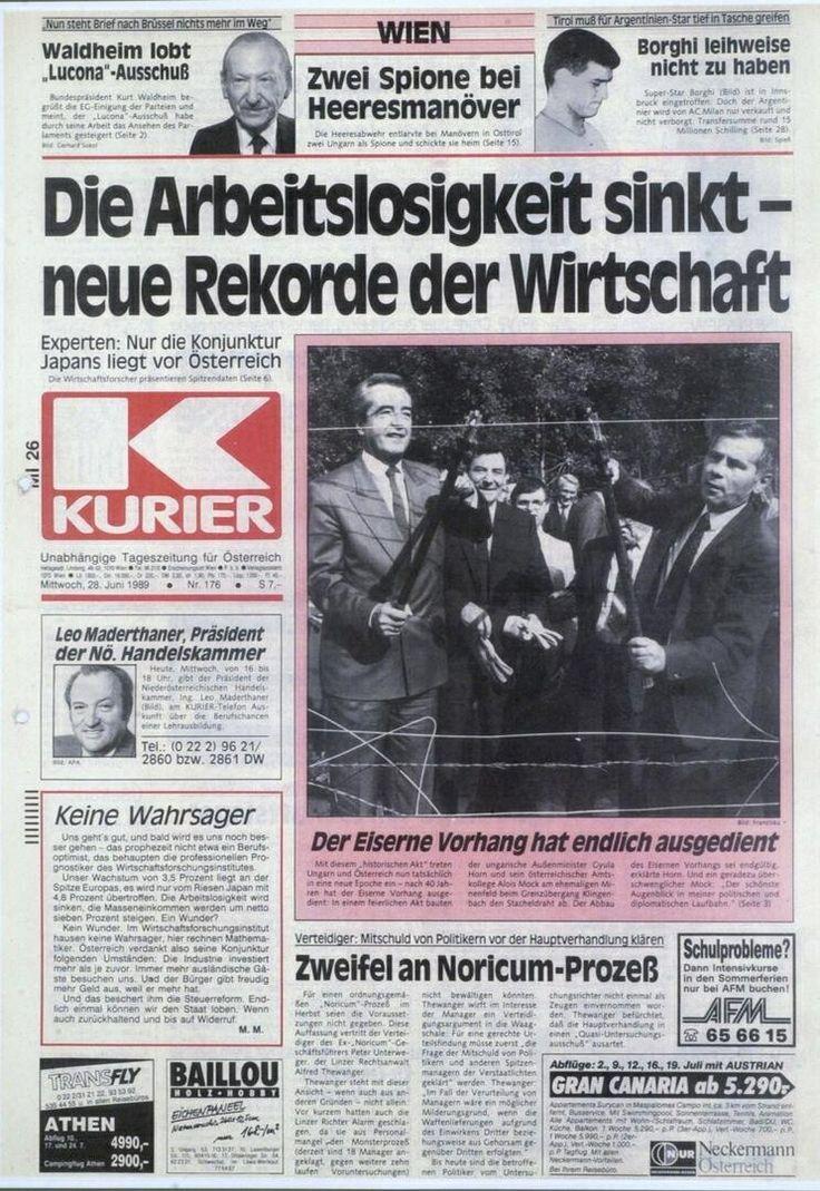 KURIER-Cover, 28.6.1989. http://kurier.at/freiheit