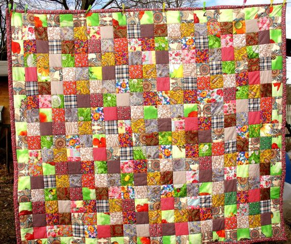 Quilts Quilt Patchwork Homemade quilts King by KingSizeQuiltsQueen