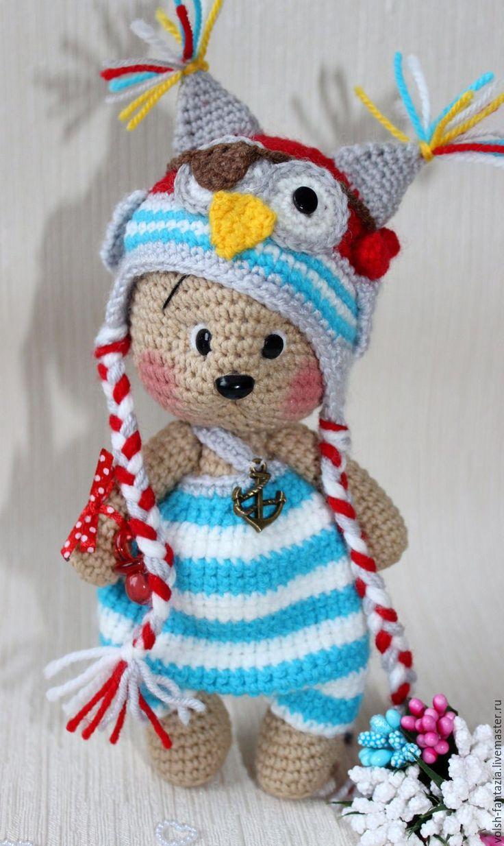 Мишка в костюмчике совенка-пирата - коричневый, мишка, медвежонок, мишка в костюмчике, пират, совенок