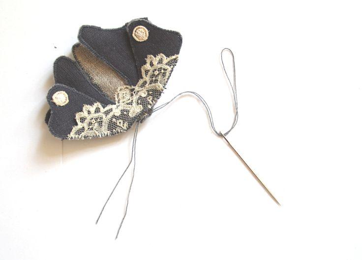 Vintage Dekorative Kleidermotten aus Stoffresten DIY