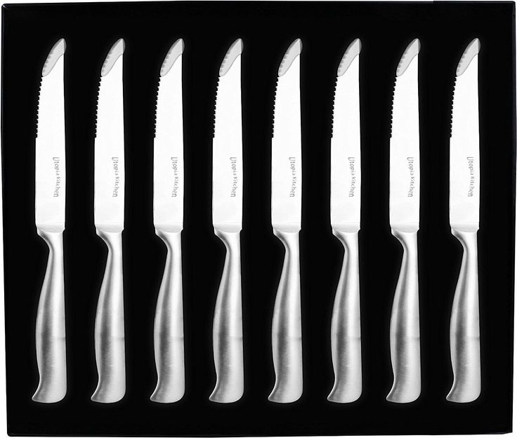 Amazon.com: 8 Pieces Stainless-Steel Kitchen Steak Knife - Professional Quality - Premium Class - Multipurpose Use for Home Kitchen or Restaurant - By Utopia Kitchen: Kitchen & Dining