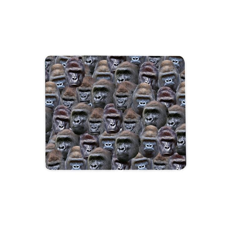 Gorilla Invasion Mousepad - Shelfies | All-Over-Print Everywhere - Designed to Make You Smile    Harambe was born on the Internet. He was more than a gorilla, more than just a meme. He was our saviour, and there can only be one (though look how many apes are out here).