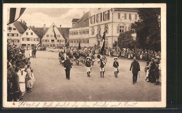 tolle AK Biberach, Spitze des Festzuges beim Schützenfest, Schützenverein 1934
