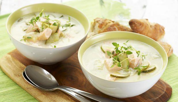 Squashsuppe med laks, Fotograf: Synøve Dreyer