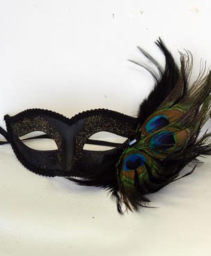 mask looks great w/ the peacock feathers. Adds just a tiny bit of color