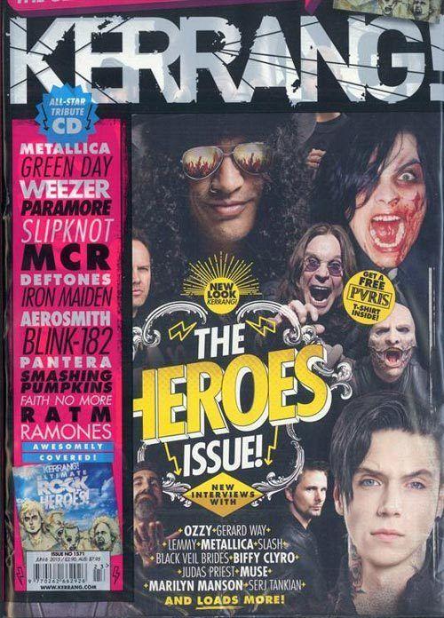 Kerrang magazine Heroes issue Black Veil Brides My Chemical Romance Metallica CD