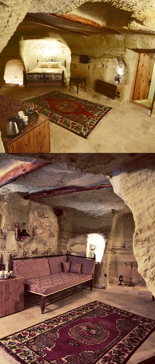 Stay in a cave hotel in Cappadocia, Turkey >>> I know someone who did this!